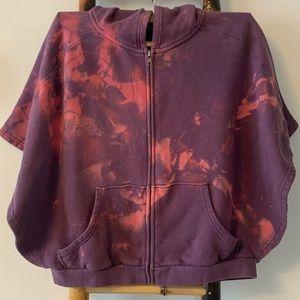 Free People Poncho Kimono Hoodie Purple Pink Med.